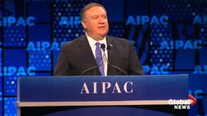 Pompeo praises U.S. recognition of Golan Heights as Israeli territory at AIPAC conference